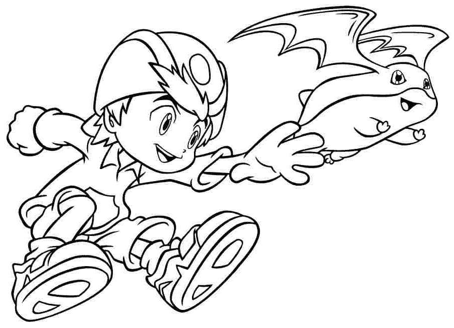 Free Fancy Digimon Coloring Pages Hand Drawing printable