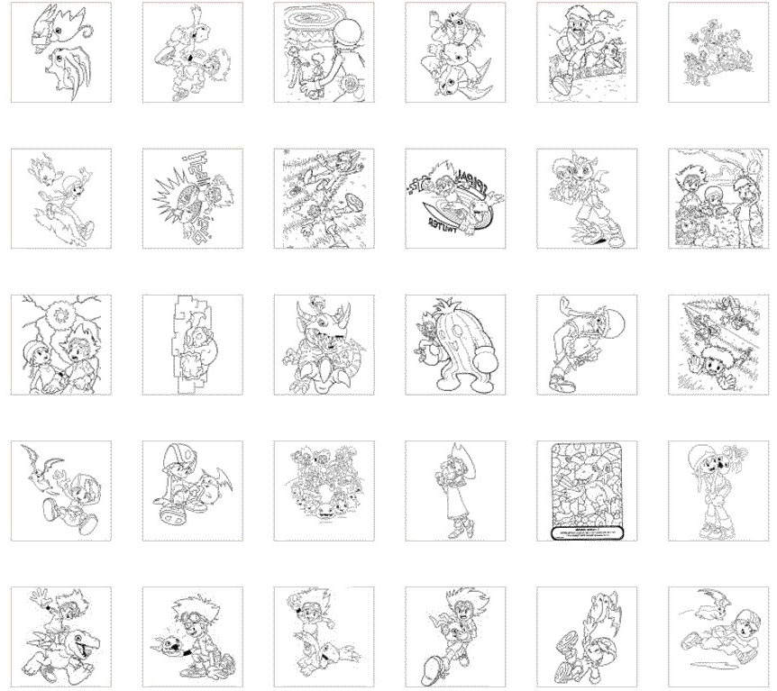 Free Fancy Digimon Coloring Pages printable