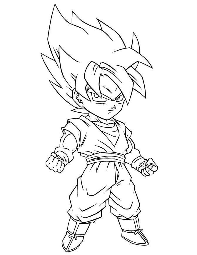 Fancy Dragon Ball Z Coloring Pages