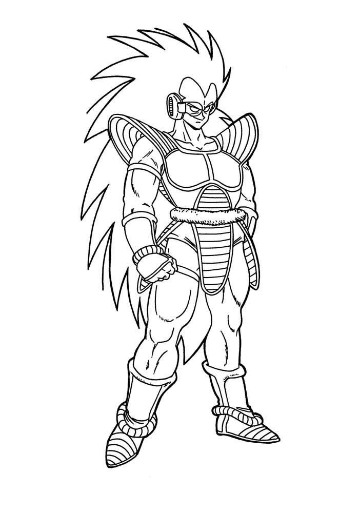 Free Fancy Dragon Ball Z Coloring Pages Characters printable