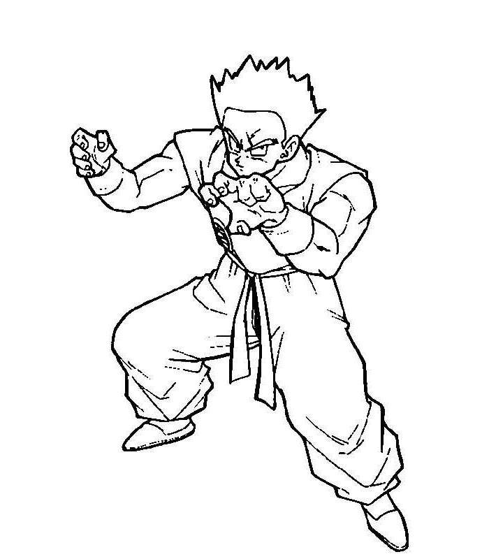 Free Fancy Dragon Ball Z Coloring Pages Lineart printable