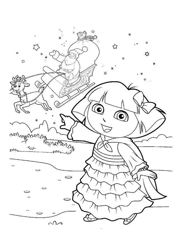 Free Free Dora The Explorer Coloring Pages Drawings printable