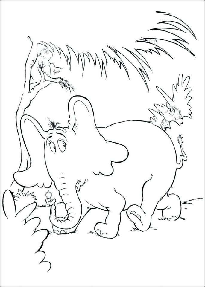 Free Free Dr Seuss Coloring Pages Black and White printable