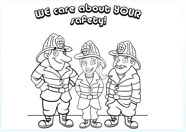 Free Free Fire Safety Coloring Pages Black and White printable