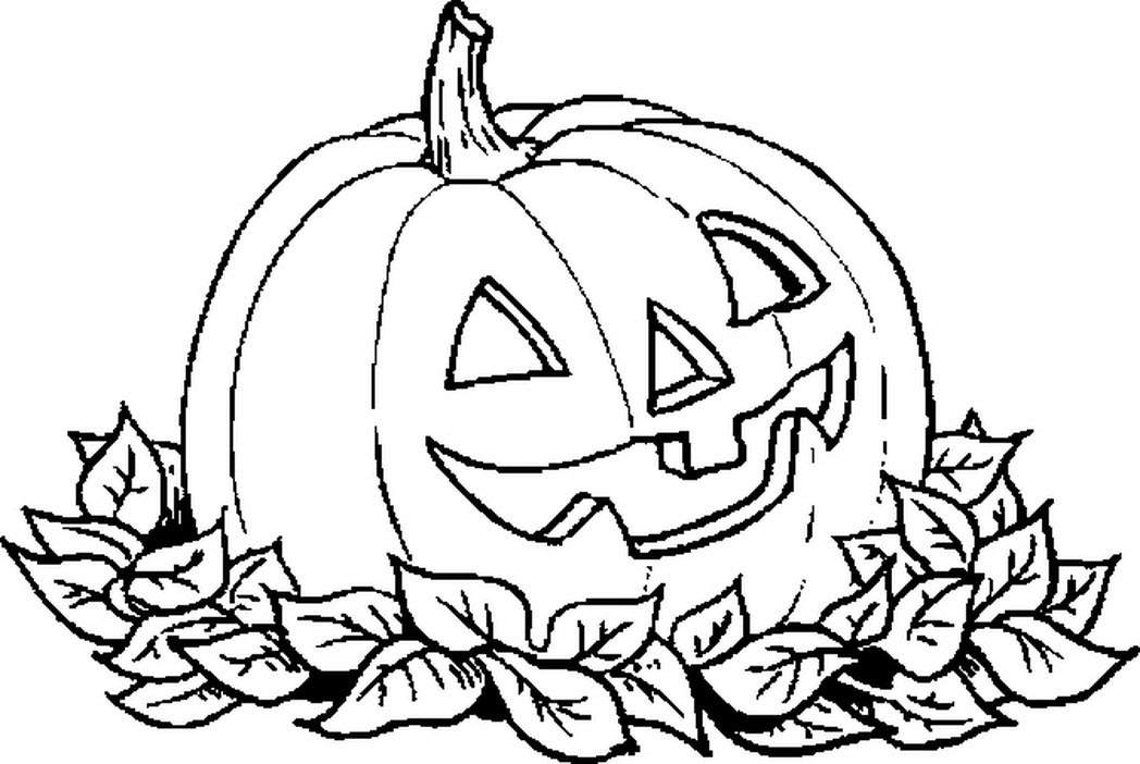 Free Free Halloween Pumpkins  Coloring Pages Linear printable