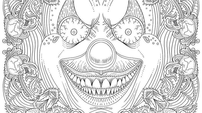 Free Free Horror Coloring Pages Lineart Creepy and Relaxing printable