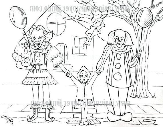 Free Horror Coloring Pages For Adults Gremlins It Clowns Old Free