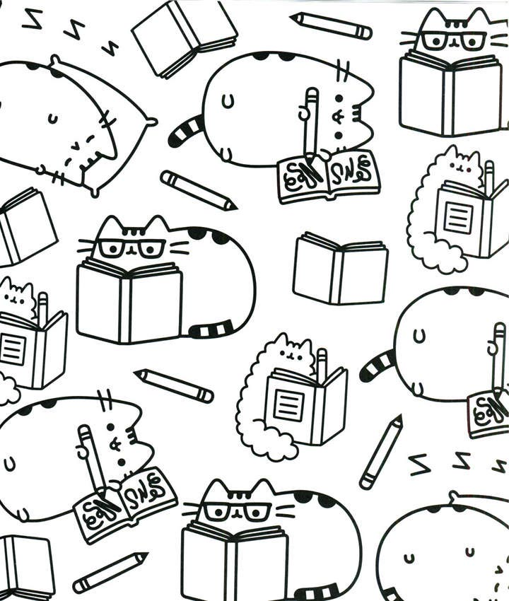 Free Free Pusheen Coloring Pages Outline printable