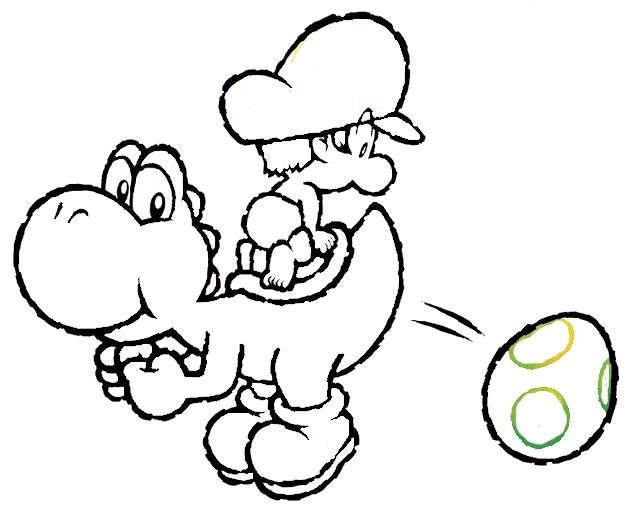Free Free Yoshi Coloring Pages Lineart printable