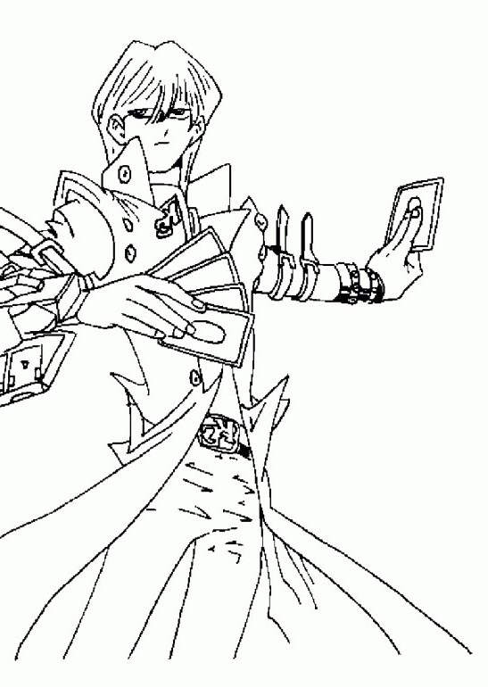 Free YuGiOh Coloring Pages Linear