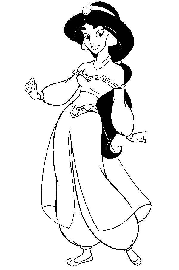 Free Fresh Aladdin Coloring Pages Hand Drawing printable