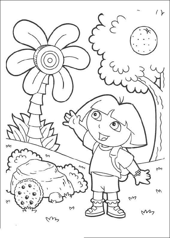 Fresh Dora The Explorer Coloring Pages Black and White ...