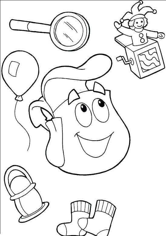 Free Fresh Dora The Explorer Coloring Pages Outline printable