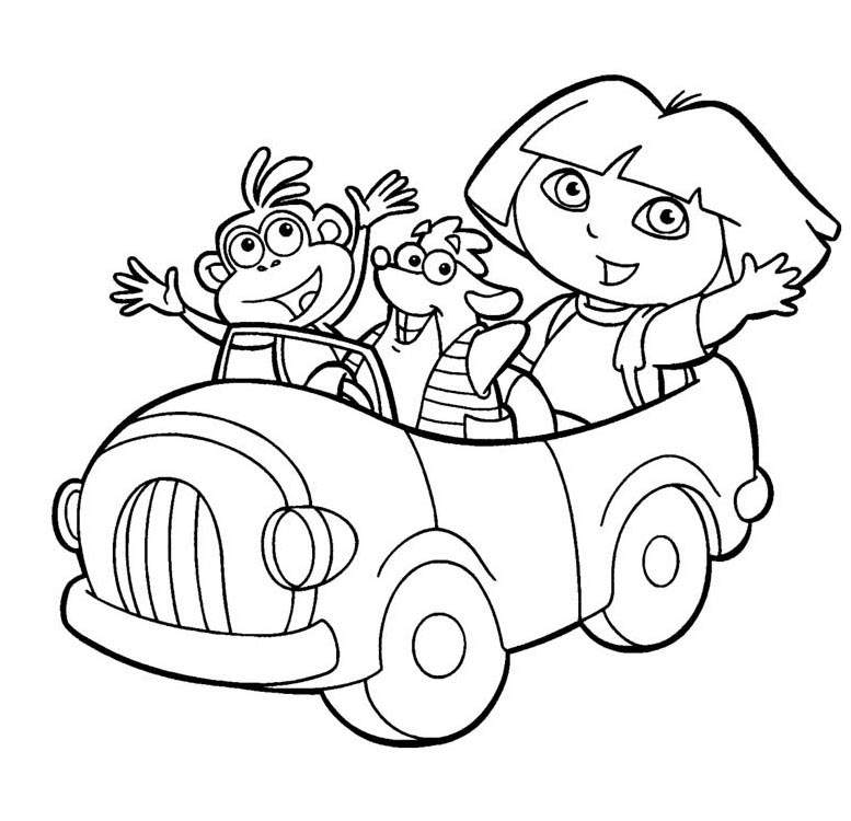 Free Fresh Dora The Explorer Coloring Pages for Boys printable