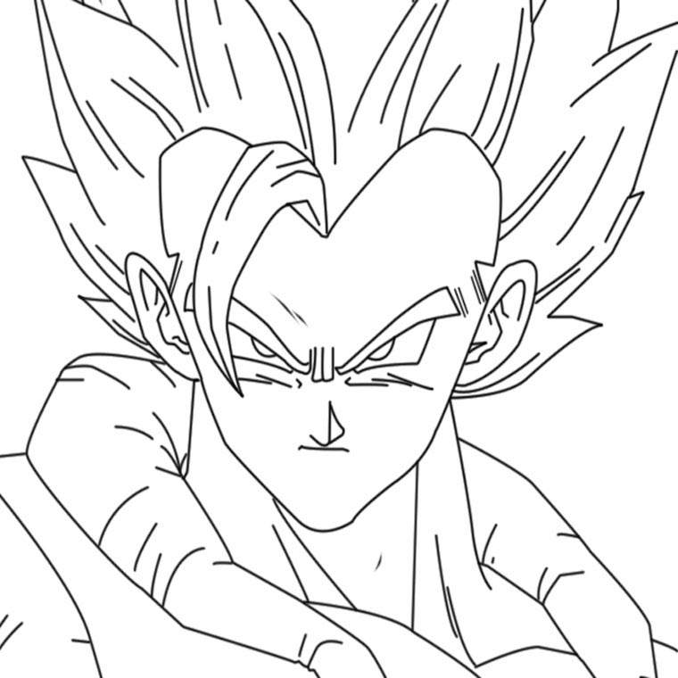 Free Fresh Dragon Ball Z Coloring Pages Characters printable