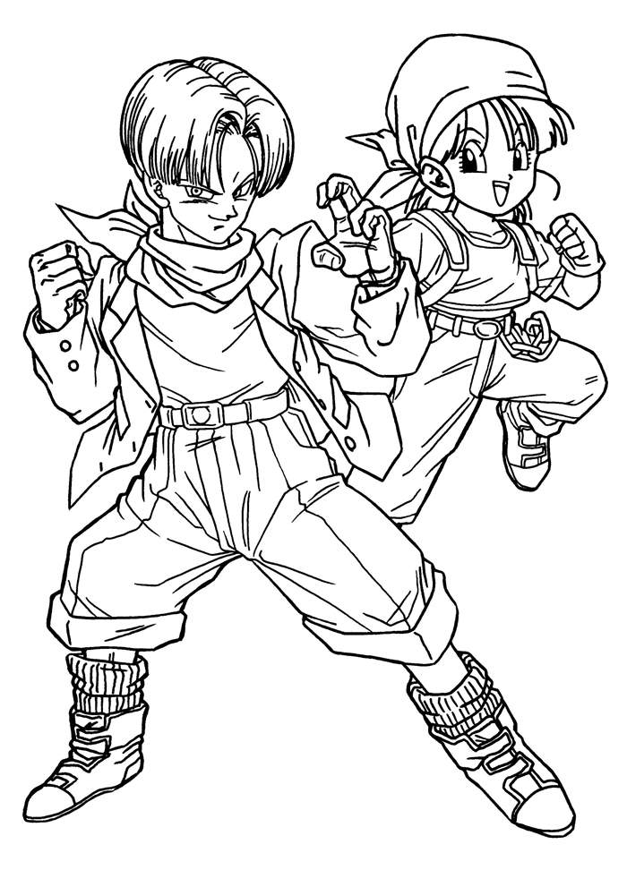 Free Fresh Dragon Ball Z Coloring Pages for Kids printable