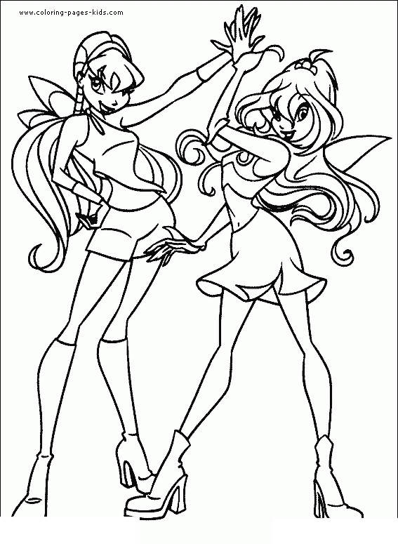 Free Fresh Winx Coloring Pages Clipart printable