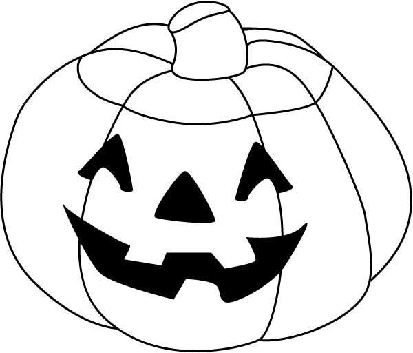 Pumpkin Coloring Template | Funny Halloween Pumpkins Coloring Pages Free Printable Coloring Pages