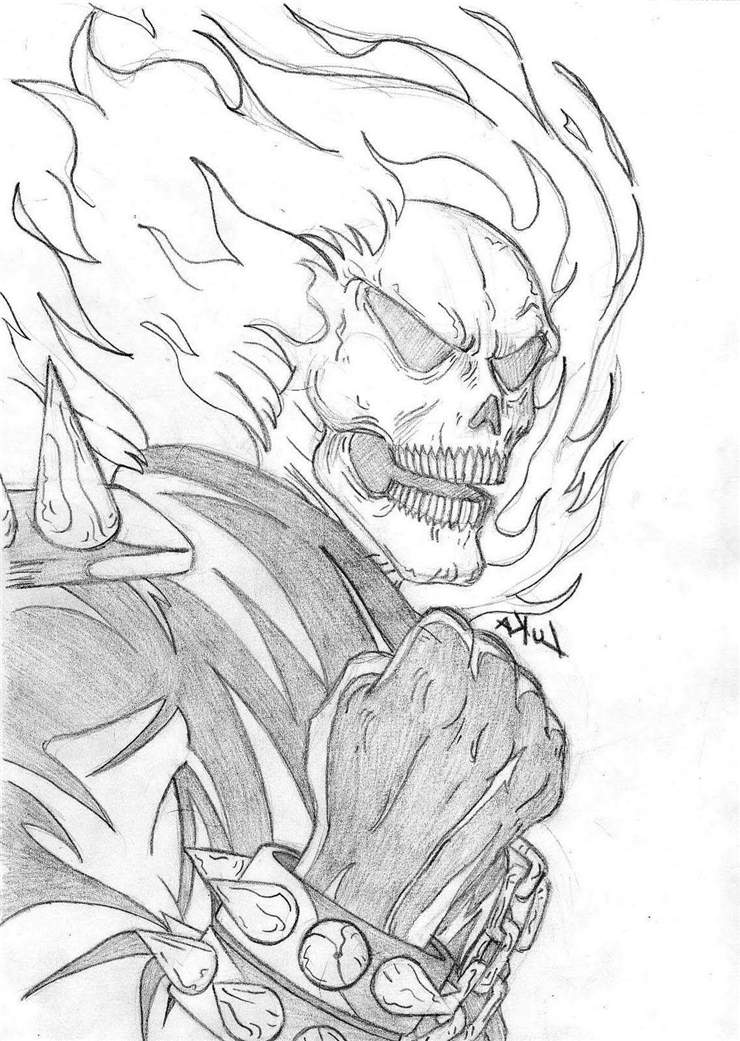 Free Ghost rider coloring pages for adults printable