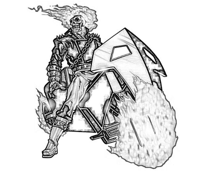 Free Ghost rider coloring pages inks printable