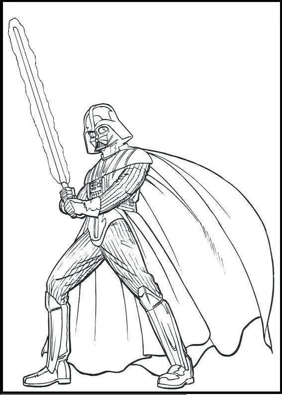 Free Great Darth Vader Coloring Pages printable