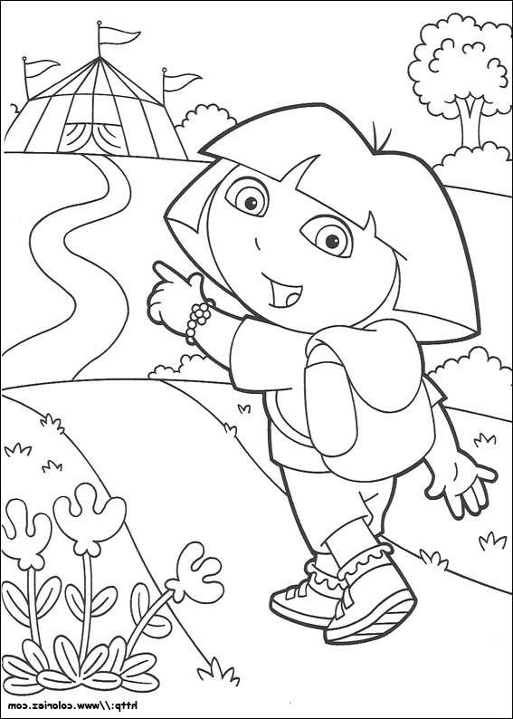 Free Great Dora The Explorer Coloring Pages Linear printable