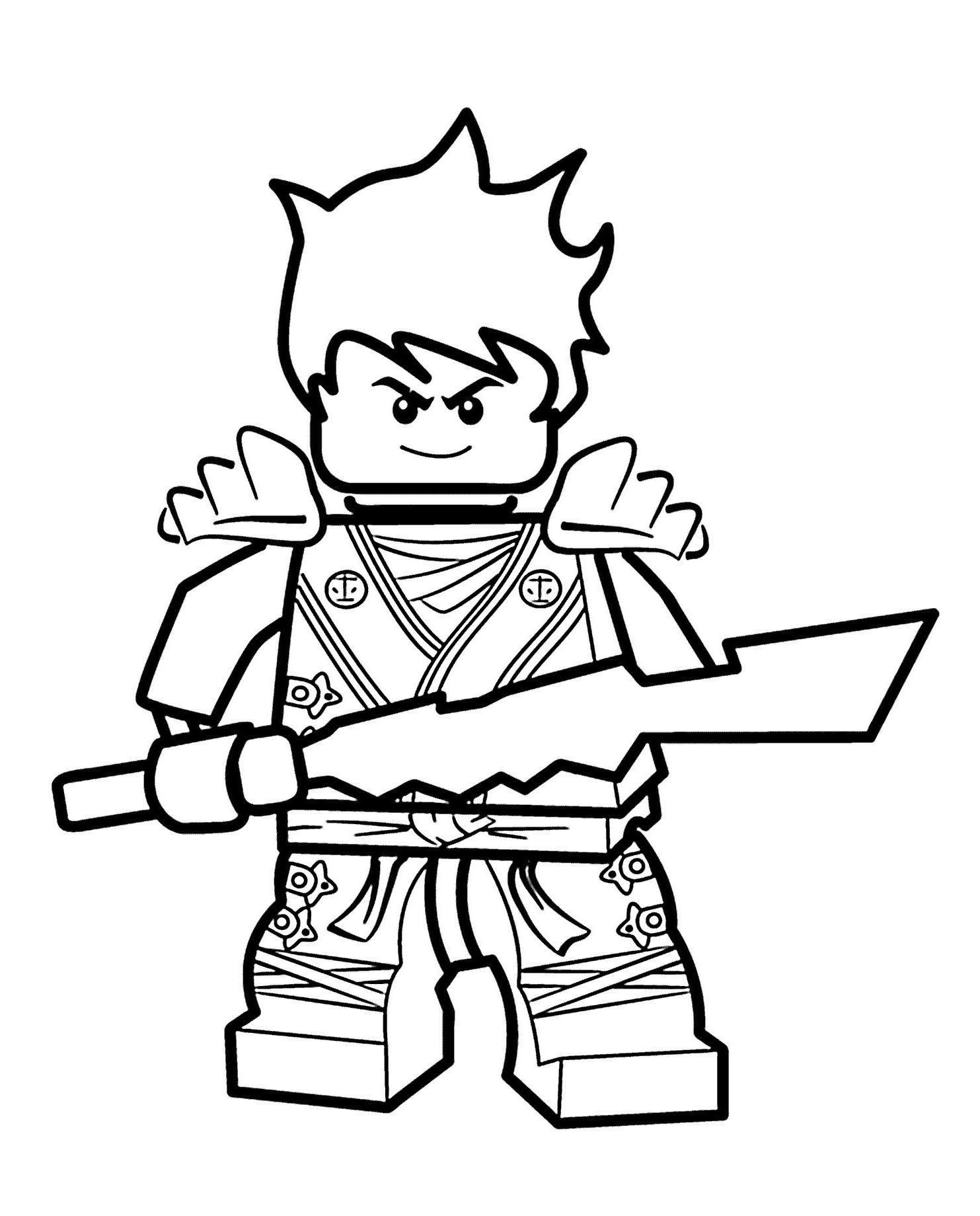 Free Great LEGO Ninjago Coloring Pages Hand Drawing printable