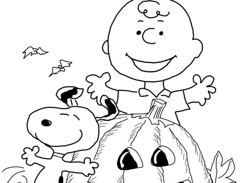 Halloween Charlie Brown Coloring