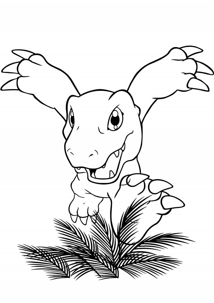 Free Inspirational Digimon Coloring Pages Black and White printable
