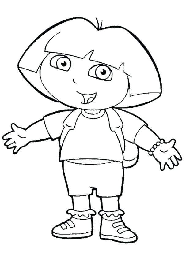 Free Inspirational Dora The Explorer Coloring Pages Hand Drawing printable