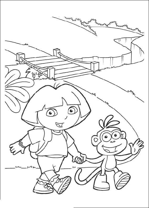 Inspirational Dora The Explorer Coloring Pages Printable