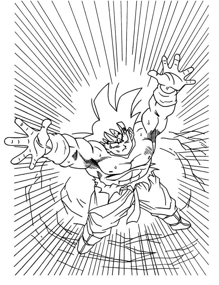 Free Inspirational Dragon Ball Z Coloring Pages Hand Drawing printable