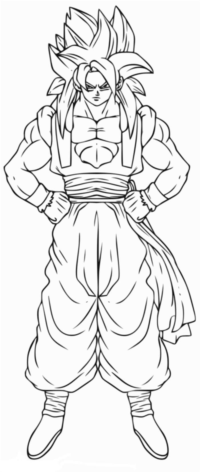 Free Inspirational Dragon Ball Z Coloring Pages Linear printable