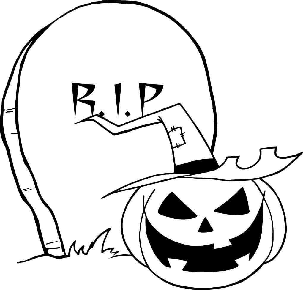 Free Jack o Lantern Coloring Pages Black and White printable