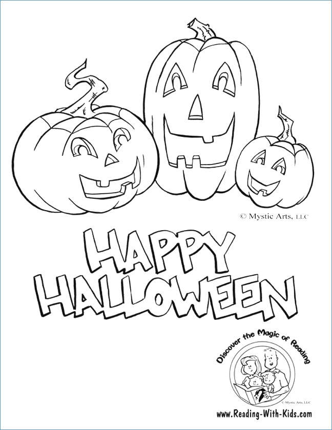 Free Jack o Lantern Coloring Pages for Girls printable