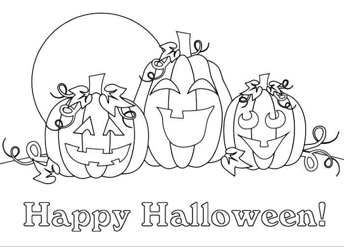 Free Jack o Lantern Coloring Pages for Kids printable