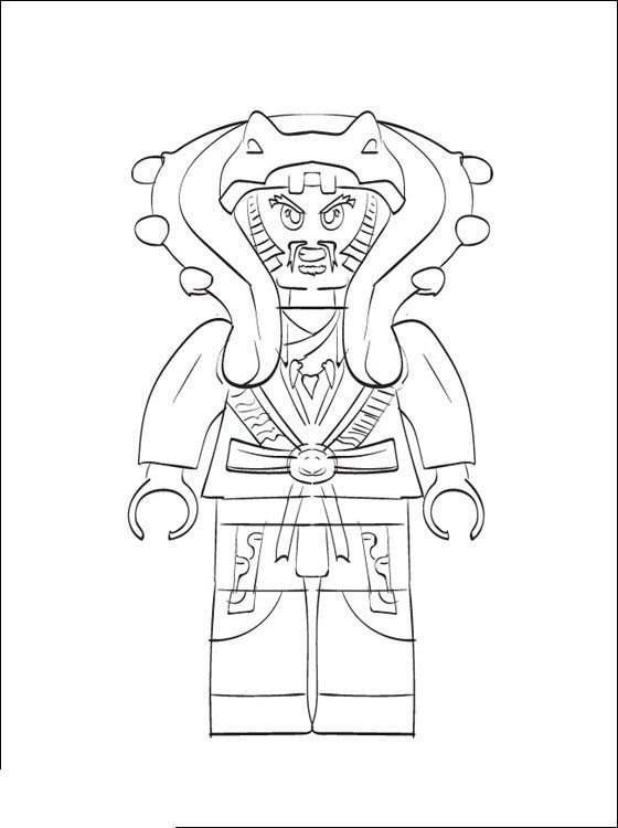 Free LEGO Ninjago Coloring Pages Outline printable