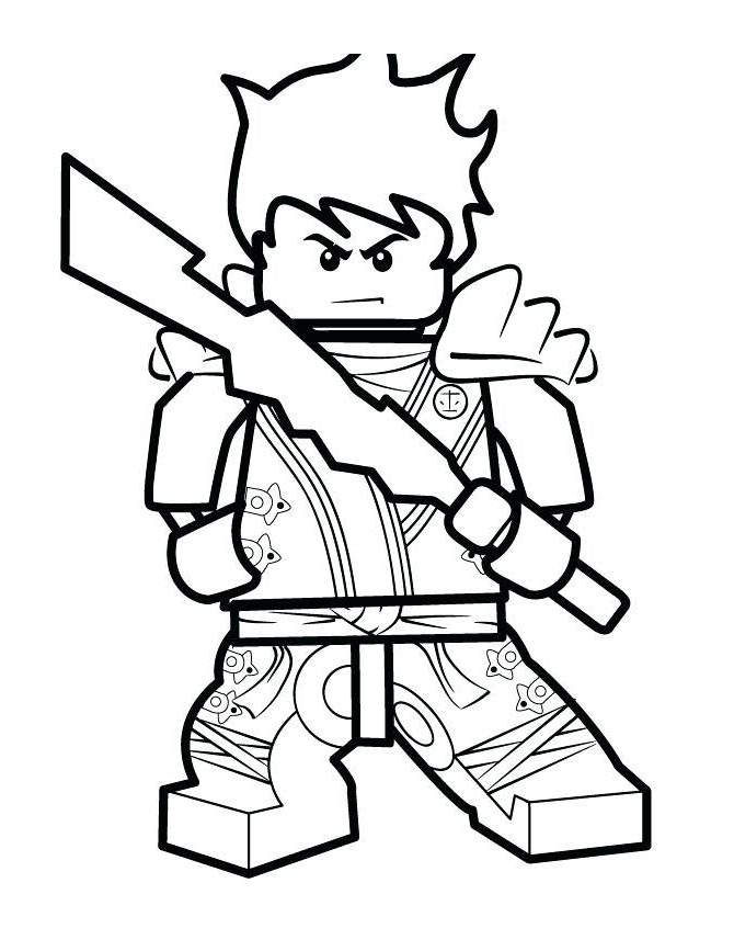 Free LEGO Ninjago Coloring Pages Worksheet printable