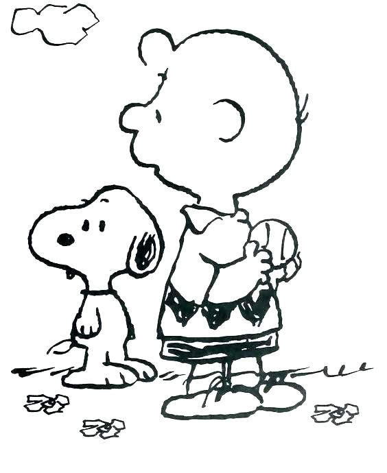 Free New Charlie Brown Coloring Pages printable