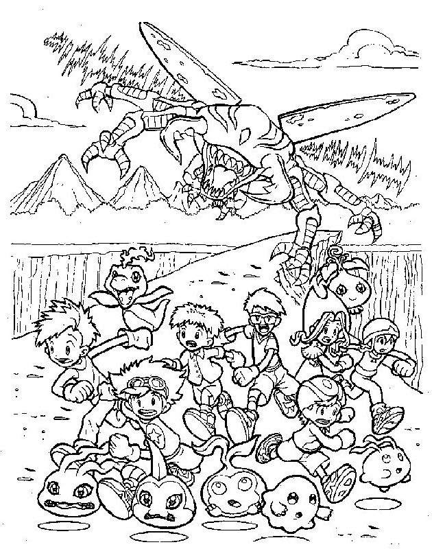Free New Digimon Coloring Pages Activity printable