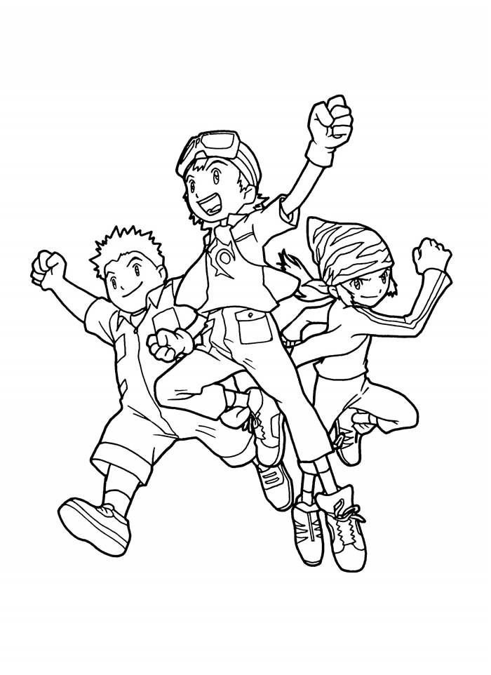 new digimon coloring pages - photo#5