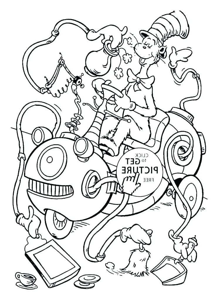 Free New Dr Seuss Coloring Pages Hand Drawing printable