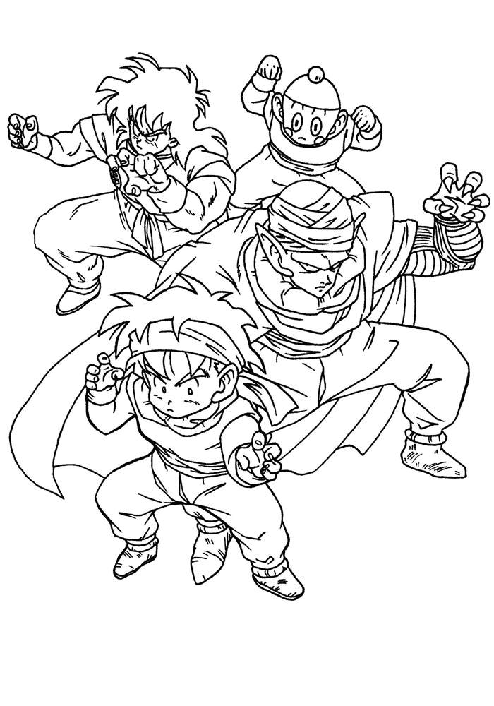 New Dragon Ball Z Coloring Pages Coloring Sheets Free Printable