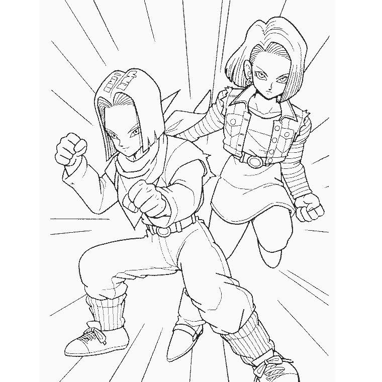 Free New Dragon Ball Z Coloring Pages Printable printable