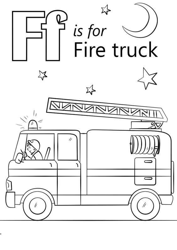 New Fire Safety Coloring Pages Lineart