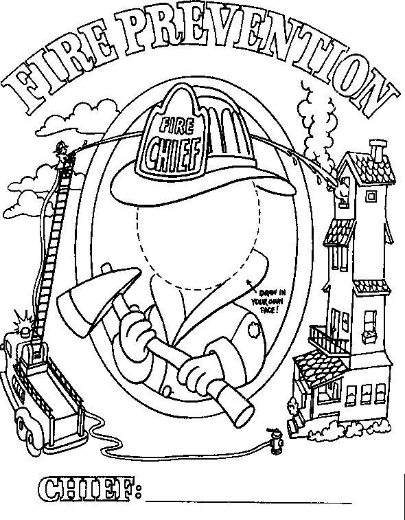 Free New Fire Safety Coloring Pages for Boys printable