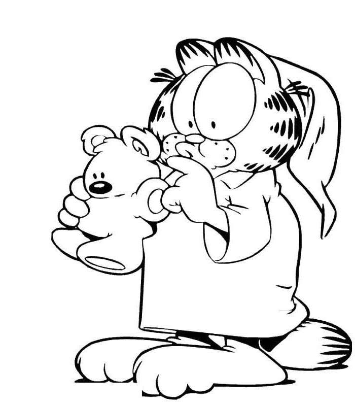 Free New Garfield Coloring Pages Drawing Pictures printable