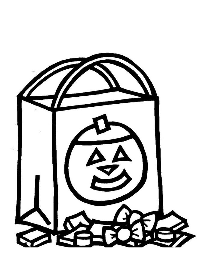 Free New Trick or Treat Coloring Pages for Kids printable