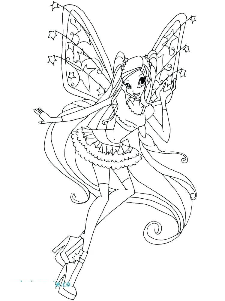 Free New Winx Coloring Pages for Girls printable
