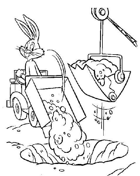 Free Printable Bugs Bunny Coloring Pages Line Drawing printable